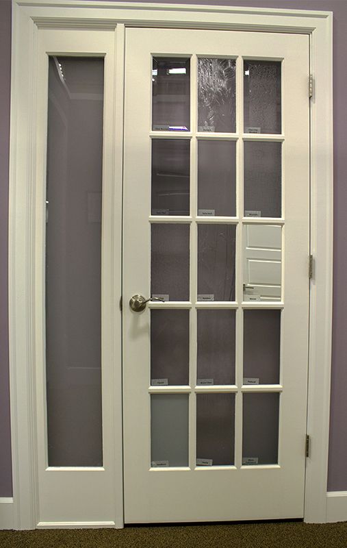 white door with glass windows