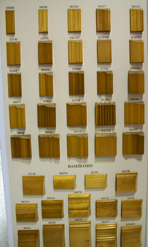 samples of different styles of wood