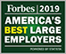Named one of America's Best Large Employers in 2019 by Forbes