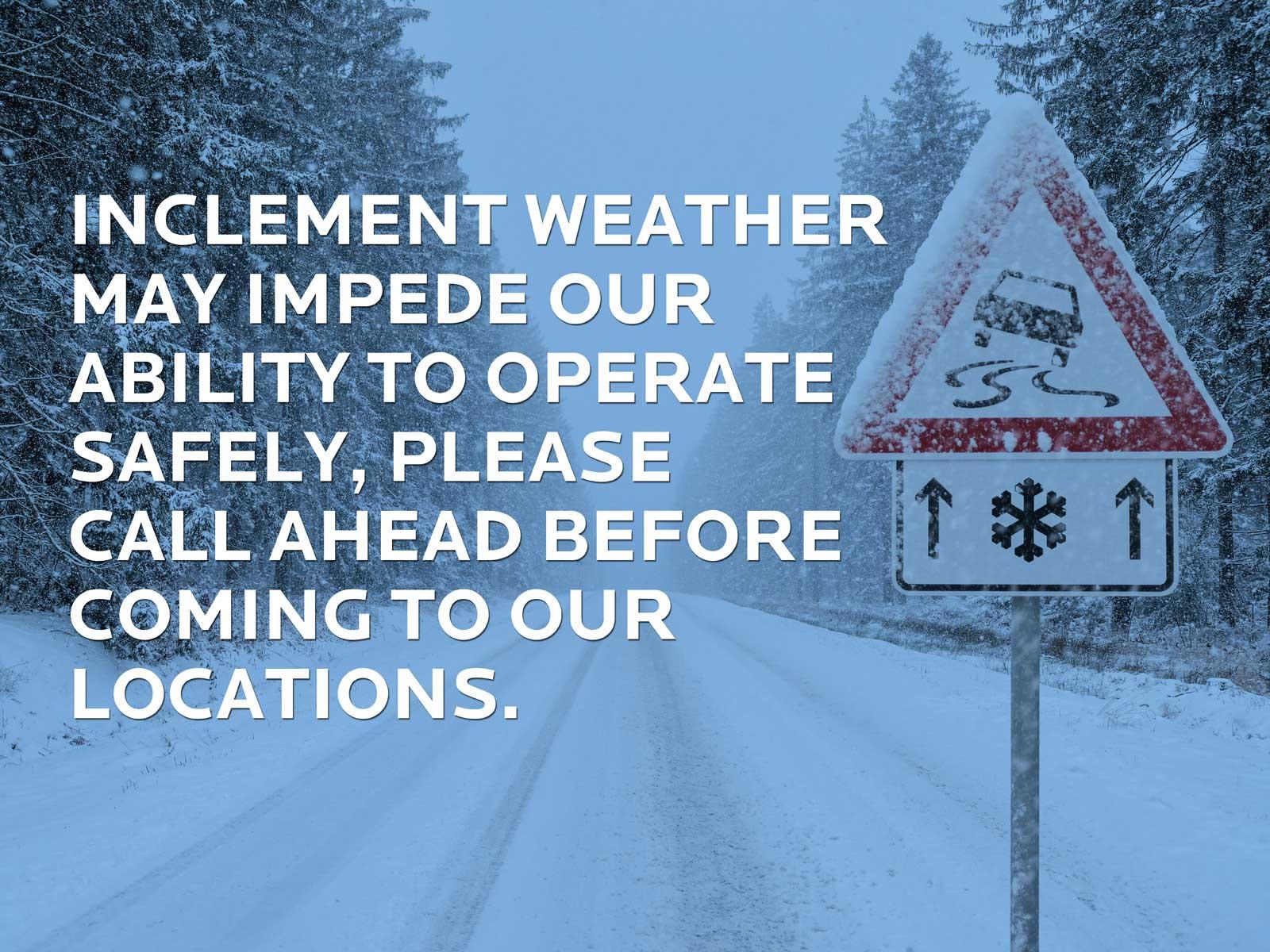Snow warning